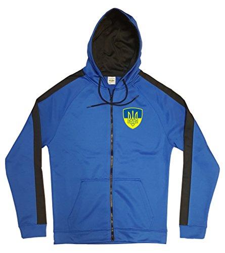 Ukraine Jacke Sweater Royal GO Ukrajina Trikot Look Zip Nation Fussball Sport (S)