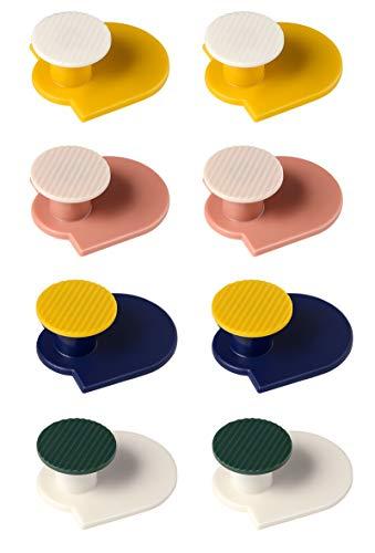Gullor Ganchos adhesivos, poderosos ganchos de pared que no dejan marcas, ganchos de pared resistentes, ganchos de toalla para baño, 8 unidades