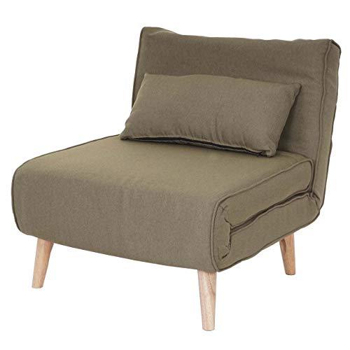 Schlafsessel HWC-D35, Schlafsofa Funktionssessel Klappsessel Relaxsessel Jugendsessel Sessel, Stoff/Textil ~ grün