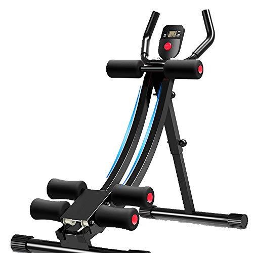FWL Der Bauch Trainer, 3-Fach Verstellbarer Non Slip & Silent Exerciser Trainer mit Knieschützern Faltbare Fitnessgeräten mit Trainingscomputern