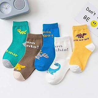 TATUE-Socks - 5 Pairs/Lot Cotton Cute Kids Warm Socks Breathable Cartoon Dinosaur Fashion Baby Boys Socks Girls For 1-15 Y...