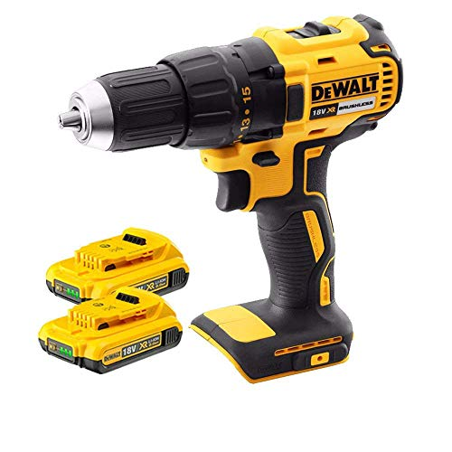 DeWalt DCD777N 18V XR Cordless Brushless Drill Driver with 2 x 2Ah Batteries