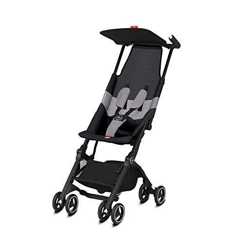 gb Gold Buggy Pockit Air All Terrain, Ultrakompakt, Ab 6 Monate bis 17 kg (ca. 4 Jahre), Velvet Black