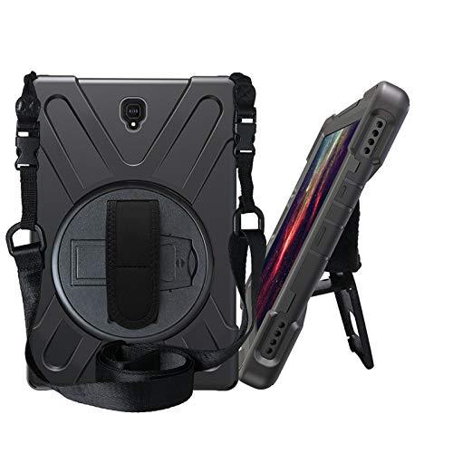 OKZone Cover Galaxy Tab S4 10.5,Custodia Rugged Shockproof Protettiva con Un Supporto Girevole a 360 Gradi/a Cinghia e Una Tracolla per Samsung Galaxy Tab S4 10.5 (SM-T835) (Nero)