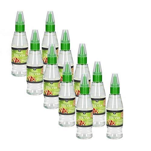 10 x borchers Stevia Flüssigsüße, Tafelsüße, Steviolglycoside, Für Getränke und Speisen, Alternative zu Zucker, Süßungsmittel 125 ml