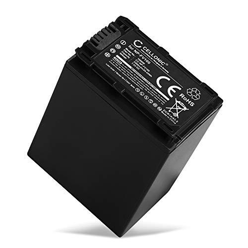 CELLONIC Batteria Compatibile per Sony FDR-AX53 FDR-AX700 FDR-AX100 HXR-NX80 HDR-CX625 HDR-CX450 -CX900 -CX680 -CX675 HDR-PJ675 NEX-VG30 -VG10 -VG20 DCR-SR68, 3300mAh NP-FV70 -FV50 -FV100 accu