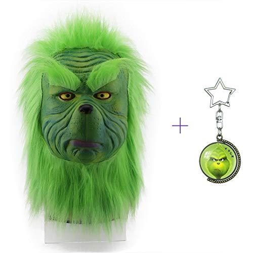yacn le Grinch Mascara Costume accessoire tête Masque Vert