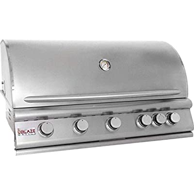 Blaze Marine Grade Stainless Steel Built-in Natural Gas Grill with Lights (BLZ-4LTE2MG-NG), 32-inch