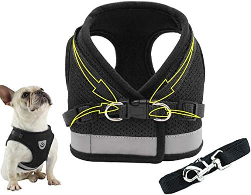 Dog Harness Vest Set Step in Puppy Vest Harness Leash Soft Mesh No Choke for Large Medium Pets product image