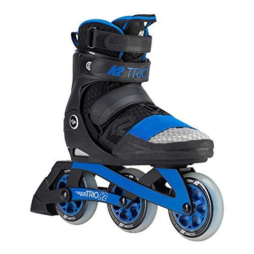 K2 Skates Unisex-Erwachsene TRIO 100_BLACK BLUE Inline Skates, Schwarz-Blau, 40.5 EU