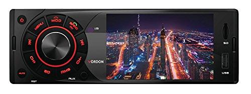 Vordon HT-4.1MP autoradio Bluetooth handsfree luidspreker, AV IN, USB, Micro SD, AUX IN,1 DIN, USB, autoradio met front AUX-in, afspelen van MP3 WMA WAV 4 x 45W, High Level Car HiFi zwart