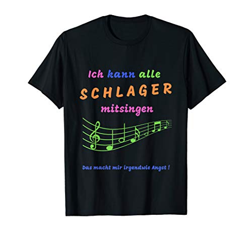 Schlager Spruch | Schlagermusik | Schlagerparty | Geschenk T-Shirt