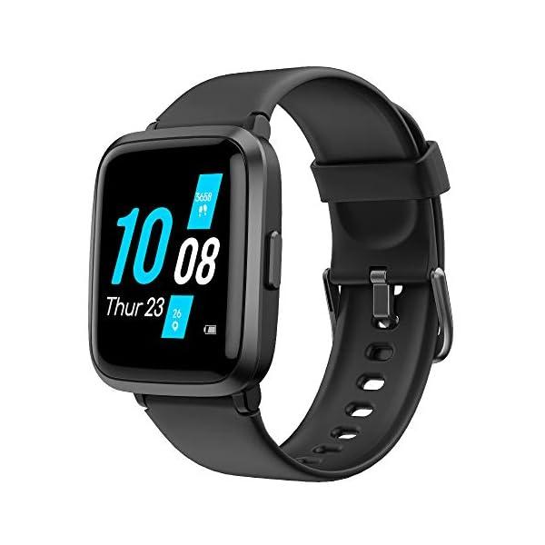 YAMAY Smartwatch con Oxímetro de Pulso Esfigmomanómetro y Pulsómetro Reloj Inteligente Impermeable para Hombre Mujer… 1