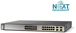 Cisco - سوئیچ اترنت از پیش دارنده کاتالیست 3750G-24PS-S دارای گواهینامه Ingram - 24 پورت - پیش متعلق به - 24 x RJ-45 - 10 / 100Base-TX - WS-C3750G-24PS-S