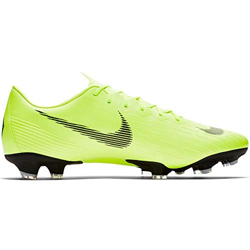 Nike Men's Mercurial Vapor 12 Pro FG Soccer Cleats (Volt/Black) (7.5)