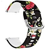 Veczom 22mm Watch Band Compatible with Samsung Galaxy Watch 3 45mm, Gear S3 Classic Gear S3 Frontier, Galaxy Watch 46mm Band, Silicone Quick Release Replacement Strap for Men Women (Black Rose, 22mm)