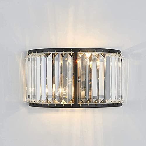Chanety Lámpara de pared de cristal, moderna. DIRIGIÓ Lámpara de pared Creative Dormitorios de lujo en la noche Chandelier E14, sala de estar, restaurante, cafetería, equipo, escaleras de iluminación