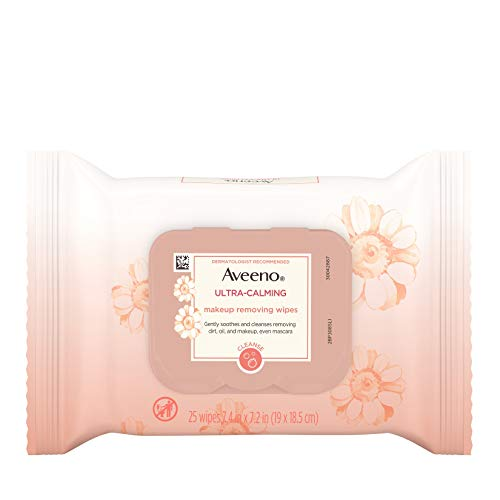 Aveeno Ultra Calming Makeup Removing Wipes, 25 Count