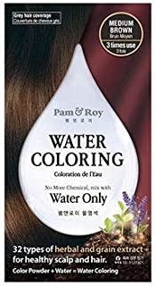 Pam & Roy Water Hair Coloring (Permanent Hair Color/Grey hair coverage) (Medium Brown)