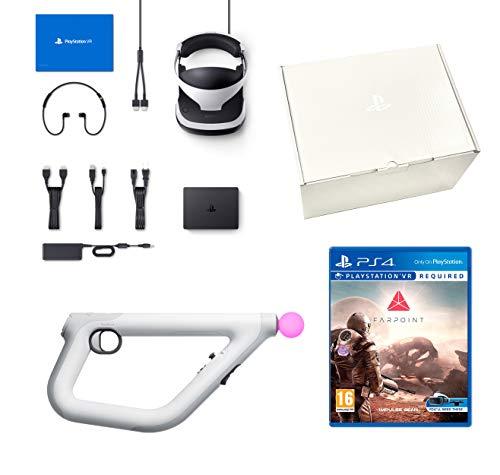 PlayStation VR2 + Farpoint + Aim-Controller PS4 + VR Worlds - PS4 Kamera V2 - VR Packung