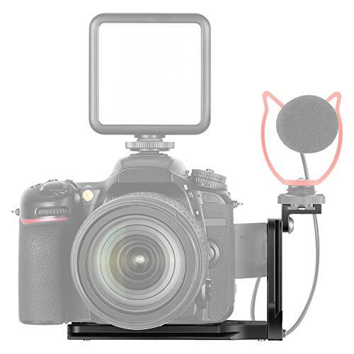 Neewer L-Form Halterung mit Kaltschuhhalterung vertikale Schnellwechselplatte Universal DSLR Kamera L-Halterung mit 1/4 Zoll Schraube Kompatibel mit DJI...