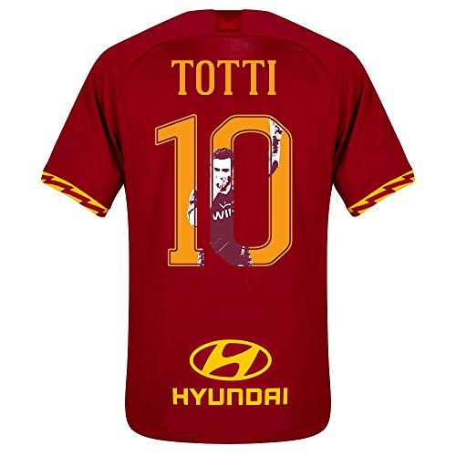 Nike AS Rom Home Totti 10 Trikot 2019-2020 (Gallery Style Beflockung) - XXL