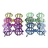 TOYANDONA 12 Piezas de Gafas de de Signo de Dólar Gafas de de Disfraces Gafas de Dinero Gafas sin Marco Favores de Fiesta Gafas para Halloween