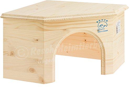 Resch Nr15 Kaninchen Eckhaus naturbelassenes Massivholz aus Fichte/groß und platzsparendes Design