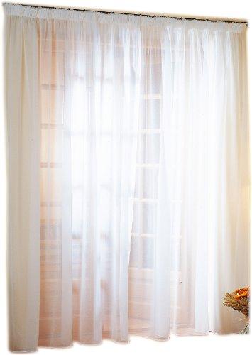Linder 0390/10/344 - Cortina (poliéster, 300 x 240 cm), Color Blanco y Blanco