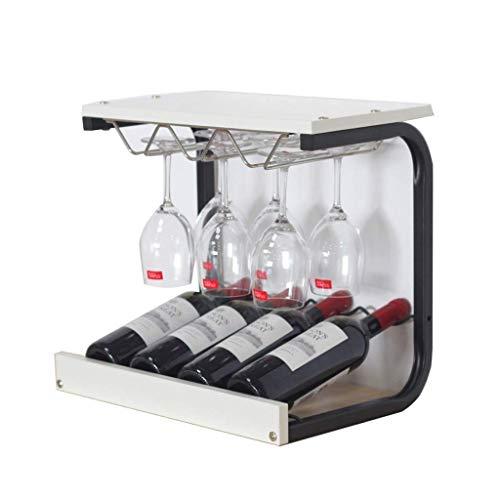 Winerack Weinregal aus Holz, freistehender Becherständer, Home-Restaurant, Desktop-Dekoration, Barschrank (Farbe: Weiß)