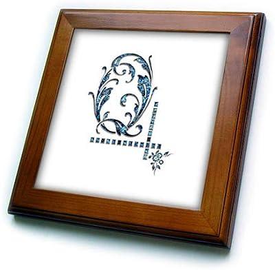 Monogram Image of Blue gem 3dRose Alexis Design Charming Initial D T-Shirts Image of Blue Gemstone Impressive Monogram