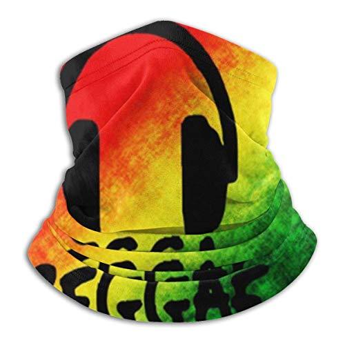KERYNP Multifunktionstuch Fleece, Halstuch, Schlauchtuch, Reggae Music Jamaica Rasta Unisex Fleece Neck Warmer Face Warmer Neck Tube Neck Scarf Neck Gaiters