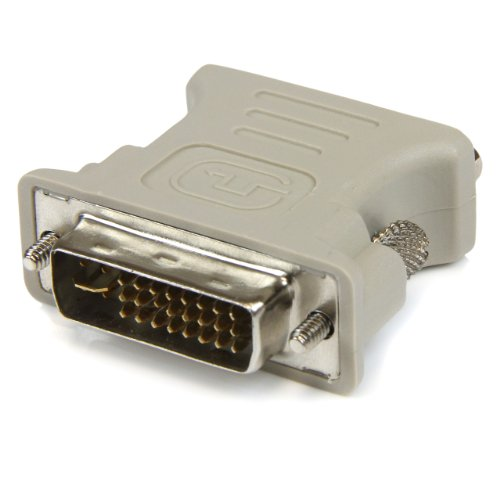 StarTech.com DVI to VGA Cable Adapter - DVI (M) to VGA (F) - 1 Pack - Male DVI to Female VGA (DVIVGAMF), Beige