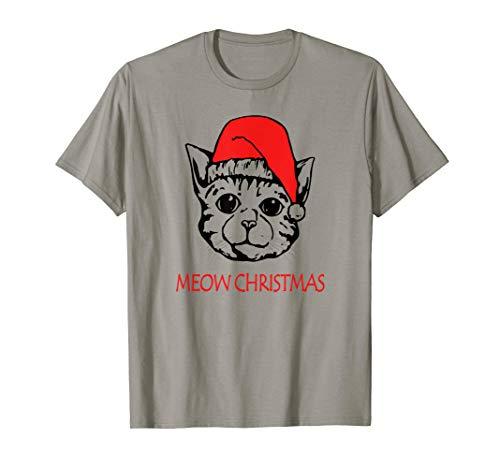 Meow Christmas Cat, Weihnacht's Katze, Geschenk,Süßes Katzen T-Shirt