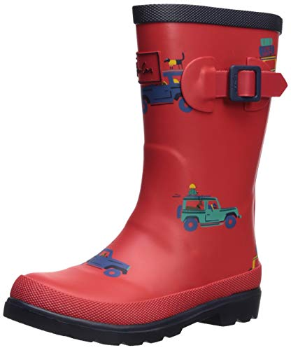 Joules Boy's Welly Rain Boot, Scout Out/About, 2 Medium UK Little Kid (3 US)