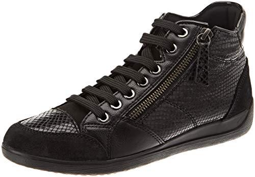 Geox Damen D Myria C Hohe Sneaker, Schwarz (Black C9999), 38 EU