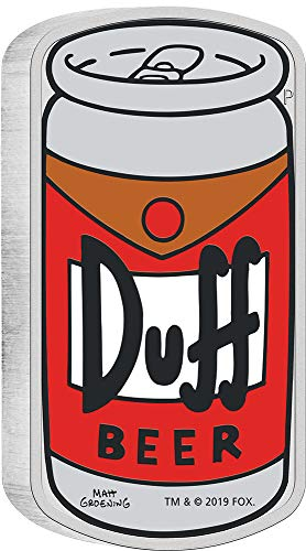 Power Coin DUFF Beer Bier Simpsons 1 Oz Silber Münze 1$ Tuvalu 2019