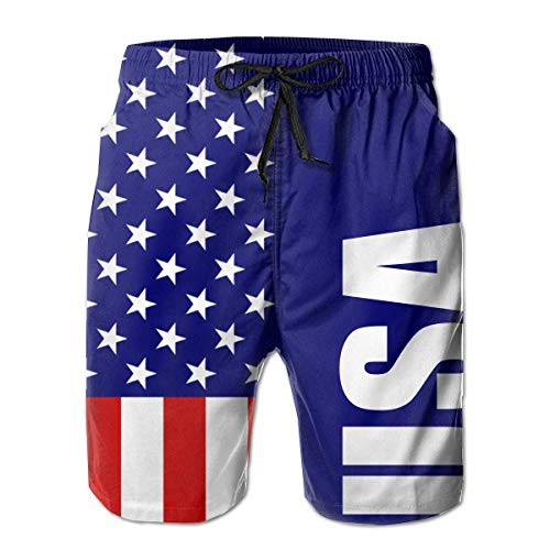 remmber me Bandera de USA America Comfort Hombres Pantalones Cortos de Tabla...