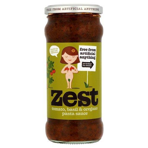 Zest - Tomato, Basil & Oregano Pasta Sauce - 340g