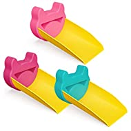 Leyaron Faucet Extender for Toddlers (3 Pack), Sink Handle Extender for Babies, Kids, Set of 3, Blue, Rosy and Pink