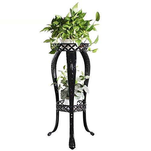 QFF Européen - Cadre de fleurs de style Plancher de plancher multi-étages - Style Salon Balcon Canapé à fleurs simple et moderne ( Couleur : Noir )