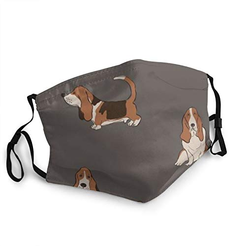 Cute Basset Hound Dog Face Mask Masks Cotton Windproof Anti Reusable Comfortable Breathable Balaclava