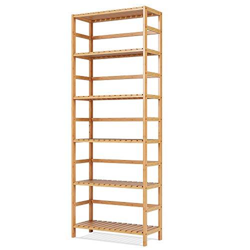 Homfa Estantería Bambú para Baño Bastidores para Plantas Estantería Almacenaje para Cocina de 6 Niveles 60x26x161cm