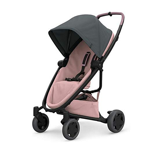 Quinny ZAPP FLEX PLUS 'Graphite on Blush' - Cochecito urbano, flexible y ultracompacto, asiento reclinable bidireccional, de 6 meses a 3.5 años, color grafito y rosa