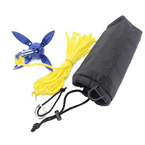 Watkings Bootskiste - Ancla plegable con cuerda para canoa, kayak, bote pequeño
