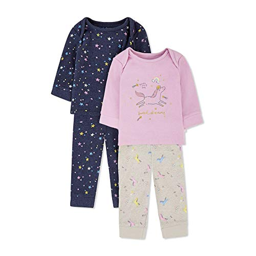 Mothercare Io G Sweet Dreams 2pk Pj Pigiama, Nero (Multi 1), Early Baby (Manufacturer Size:2.3) Unisex-Bimbi