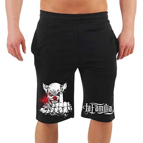 Spaß kostet Männer und Herren Kurze Hose Shorts La Familia Fuck You Größe M - 10XL
