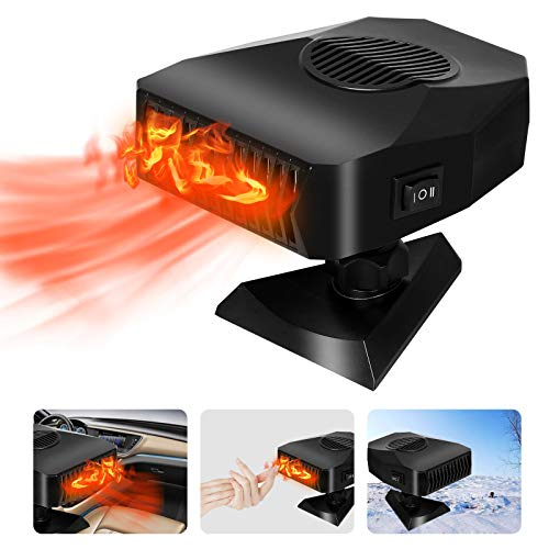 INGOU Portable Car Heater Defroster, 2 in 1 Heater for Car Fan with Heating & Cooling Function Defogger 12V 150W, Car Heater Plug in Cigarette Lighter