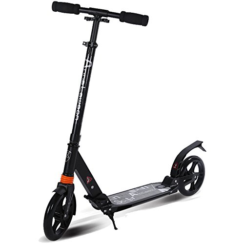 Buy Bargain Man-hj Home Gym Two-Wheeled Aluminum Large Wheel Collapsible Adult Scooter Two-Wheel Dou...
