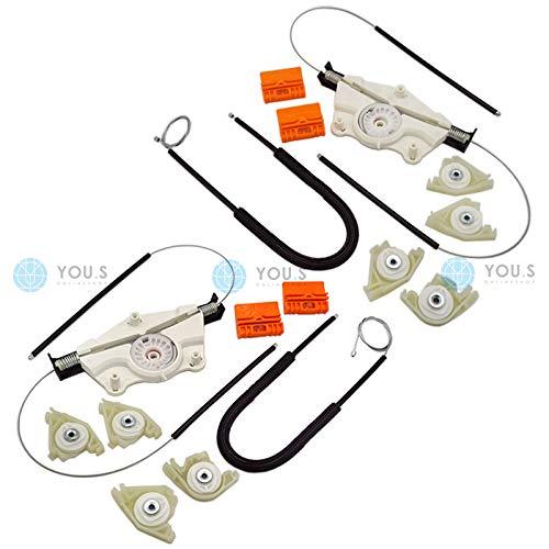 YOU.S elektrischer Fensterheber Reparatursatz - SET - Hinten Links + Rechts 7L0839461D